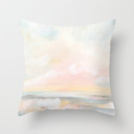 Rebirth - Pastel Ocean Seascape Throw Pillow