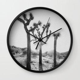 Three Brothers of Joshua Tree Wall Clock