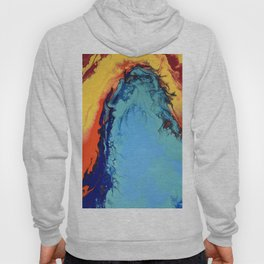 Colorful Celebration 2 Abstract Modern Fluid art Hoody