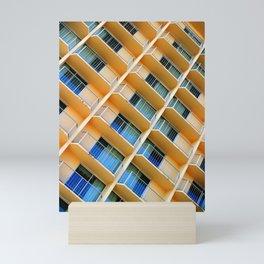 Scratchy Hotel Facade Mini Art Print