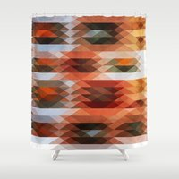 triangle Shower Curtains featuring Triangle by Fine2art