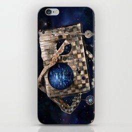 Aqua Space iPhone Skin
