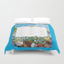 Welcome 2015 Calendar Duvet Cover