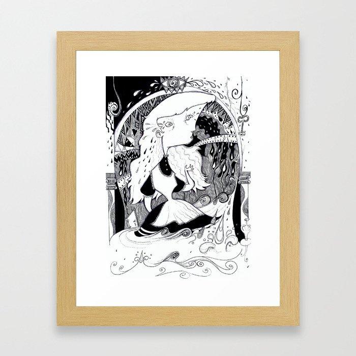Alice in Wonderland - Key Room Framed Art Print