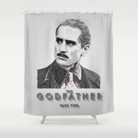 the godfather Shower Curtains featuring The Godfather - Part Two by Mark A. Hyland (MAHPhoto)