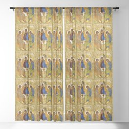 """Andrey Rublev , """" The Trinity """" Sheer Curtain"""