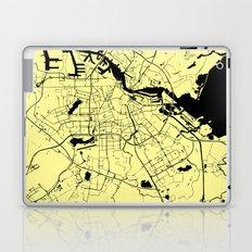 Amsterdam Yellow on Black Street Map Laptop & iPad Skin