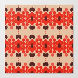 Red pattern rouge 6 Canvas Print