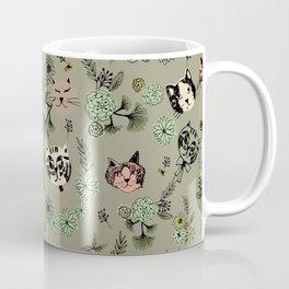 Floating Cat Head Coffee Mug