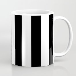 Black & White Vertical Stripes - Mix & Match with Simplicity of Life Coffee Mug