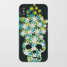 Flowers on the head. iPhone X Slim Case