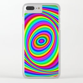 Rainbow Hypnosis Clear iPhone Case