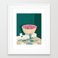 marc johns Framed Art Prints featuring Johns Hopkins Privy by mark smith