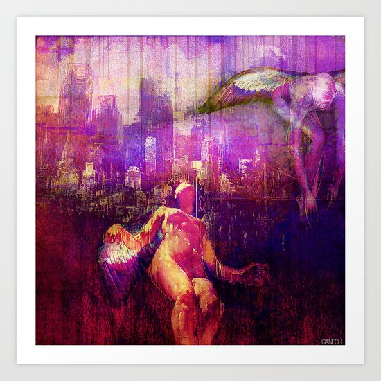 The angels of the city Art Print