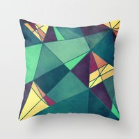 starry night Throw Pillows featuring Starry Night by VessDSign