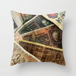 Old German money Altes Deutsches Geld Throw Pillow