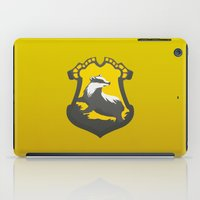 hufflepuff iPad Cases featuring You might belong in Hufflepuff by Tom Oxnam