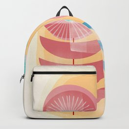 Three Flowers in Retro Style Backpack