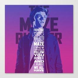 Dear Tommy (The Maze Runner) Canvas Print
