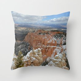 Snow in Bryce Canyon Utah Throw Pillow