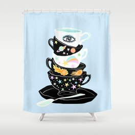 galactic cups Shower Curtain