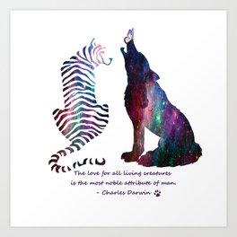 Galaxy Wilderness Love Art Print