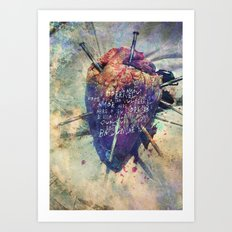 Damaged Heart Art Print