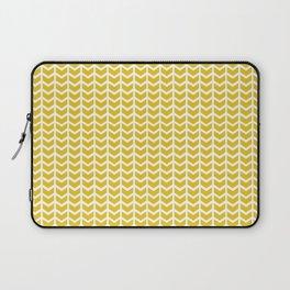 mustard chevron Laptop Sleeve