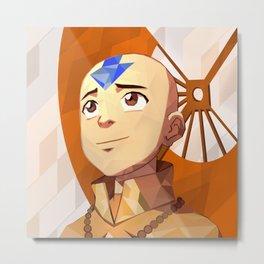 Avatar Aang, Vector Style! Metal Print