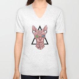 Hipster Cat Unisex V-Neck
