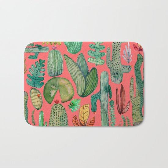 Summer Nature in Pink Bath Mat