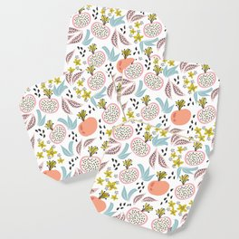 Fruits and seeds pattern! Coaster