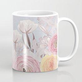 Floral Spring Greatings - Pastel Flowers Coffee Mug