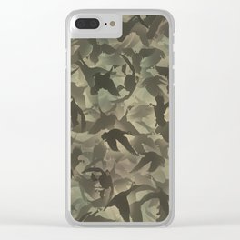 Duck hunt camouflage Clear iPhone Case