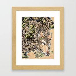 Dog of the Mountain - Honshu Wolf Framed Art Print