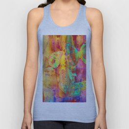 Colorful Butterfles Q Unisex Tank Top