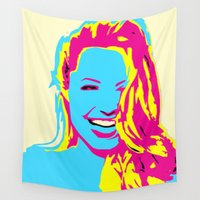 angelina jolie Wall Tapestries featuring Angelina by Becky Rosen