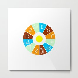 The twelve signs of the zodiac 1 Metal Print