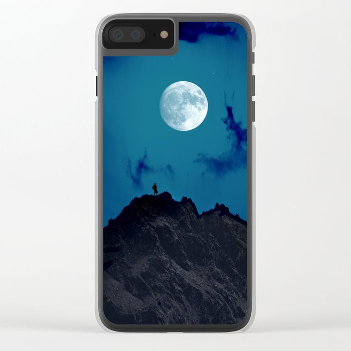 night on the mountain Clear iPhone Case