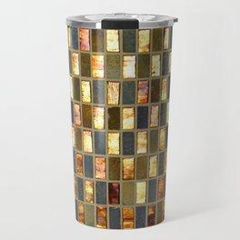 Black Gold Copper Tile Travel Mug