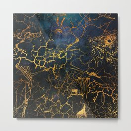 KINTSUGI  ::  Embrace Damage Metal Print