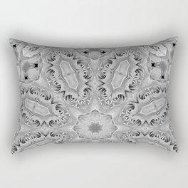 Flower kaleidoscope in black and white Rectangular Pillow
