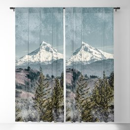 Frosty Mountain - Nature Photography Blackout Curtain
