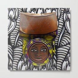 AfriCan Mama B&W Metal Print