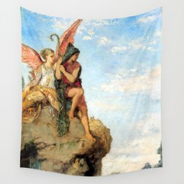 """Gustave Moreau """"Hesiod and the Muse"""" (1870) Wall Tapestry"""