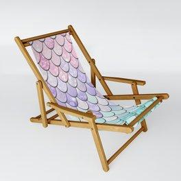 Mermaid Pastel Pink Purple Aqua Teal Sling Chair