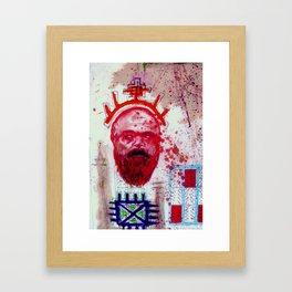 King Arthur Blueprint Framed Art Print
