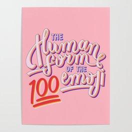 100 Emoji Poster