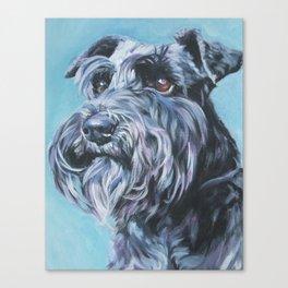 SCHNAUZER dog art portrait from an original painting by L.A.Shepard Canvas Print