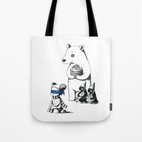 birthday Tote Bags featuring Birthday by Freeminds
